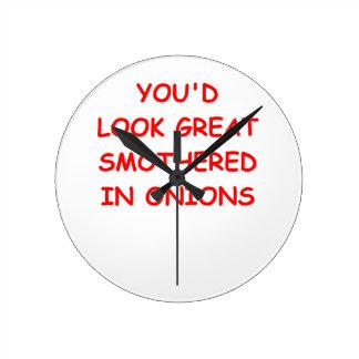 onions round clock