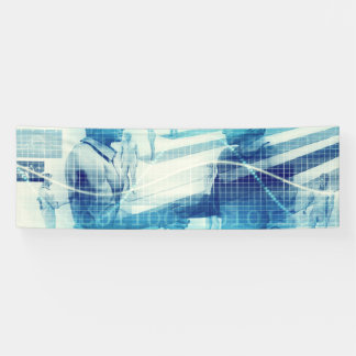Online Meeting for Business with Men Shaking Hands Banner