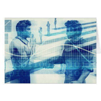 Online Meeting for Business with Men Shaking Hands Card