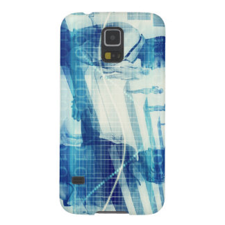 Online Meeting for Business with Men Shaking Hands Galaxy S5 Case
