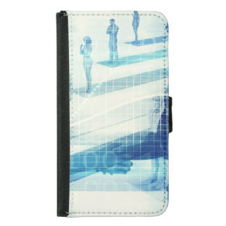 Online Meeting for Business with Men Shaking Hands Samsung Galaxy S5 Wallet Case