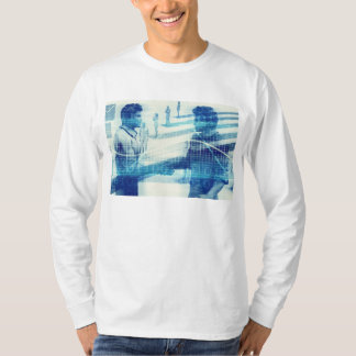 Online Meeting for Business with Men Shaking Hands T-Shirt