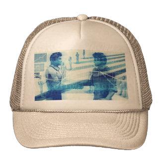 Online Meeting for Business with Men Shaking Hands Trucker Hat
