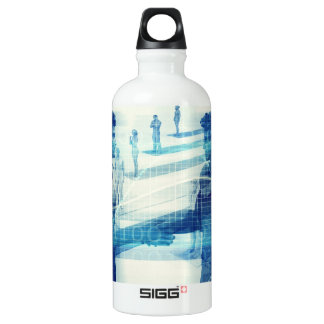 Online Meeting for Business with Men Shaking Hands Water Bottle