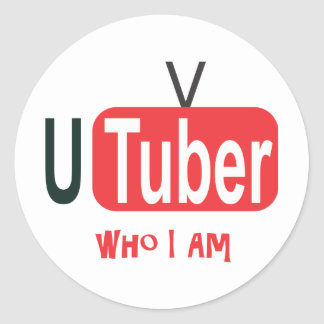 Online video Who I Am Round Sticker