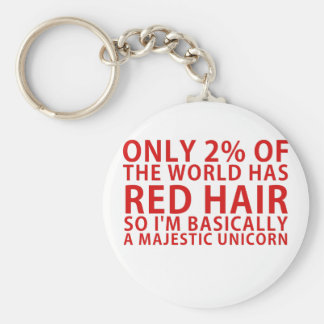 Only 2% of the World has Red Hair so Im Basically Basic Round Button Keychain