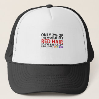 Only 2 Percent of the World has Red Hair So Im Trucker Hat