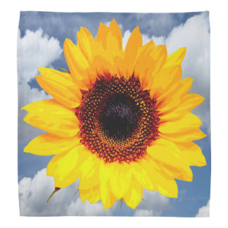 Only a Sunflower Blossom + your text & ideas Bandana
