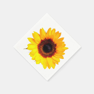 Only a Sunflower Blossom + your text & ideas Paper Napkins
