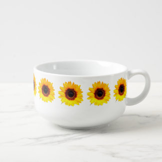 Only a Sunflower Blossom + your text & ideas Soup Mug
