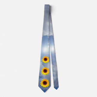 Only a Sunflower Blossom + your text & ideas Tie