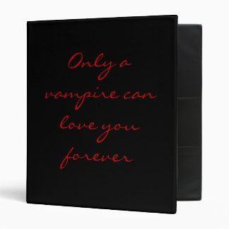 Only a Vampire... binder 3 (red)