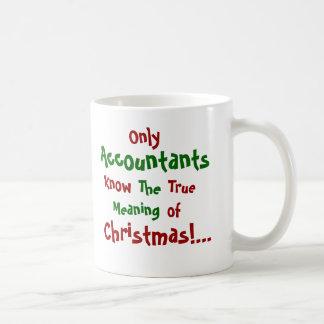 Only Accountants...Christmas - Double-sided Classic White Coffee Mug