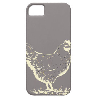 Only Aluminum gray chicken silhouette iPhone 5 Case