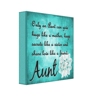 Only an Aunt Canvas Wall Decor