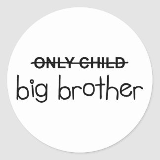 Only Big Brother Classic Round Sticker