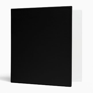 Only black cool solid color OSCB18 3 Ring Binders