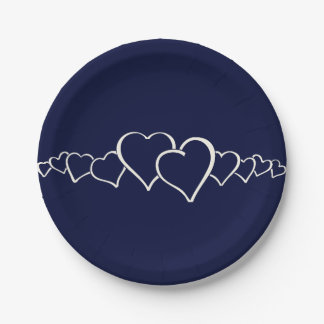Only Blue navy solid color 7 Inch Paper Plate
