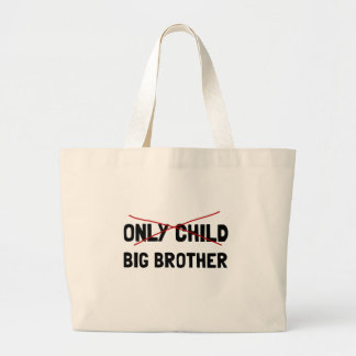 Only Child Big Brother Large Tote Bag