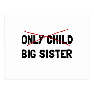 Only Child Big Sister Postcard