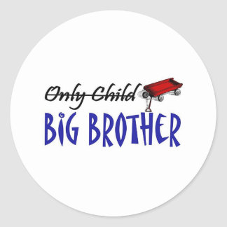 only child brother classic round sticker