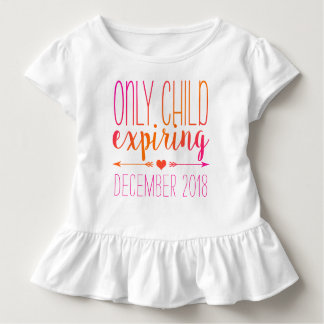 Only Child Expiring - Pink and Orange Ombre Toddler T-shirt