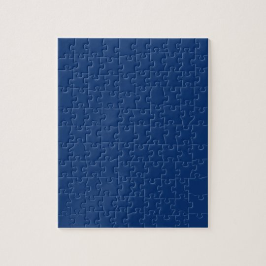 Only cobalt cool blue solid colour background jigsaw puzzle