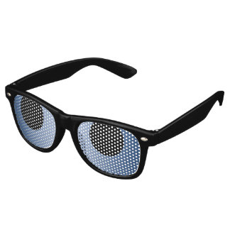 Only Color Background - dark blue gradient Retro Sunglasses