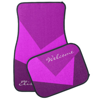 Only Color Background - pink magenta + your ideas Car Mat