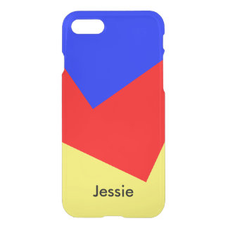 Only Color Background - royal blue fire red iPhone 7 Case