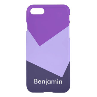 Only Color Background - violet purple + your ideas iPhone 7 Case