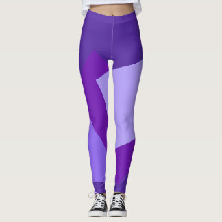 Only Color Background - violet purple + your ideas Leggings