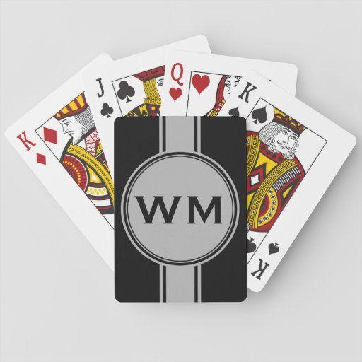 ONLY COLOR / BUTTON BANNER white + monogram Card Deck