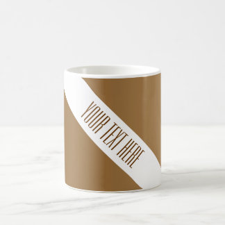 ONLY COLOR gradients brown + your text Coffee Mugs