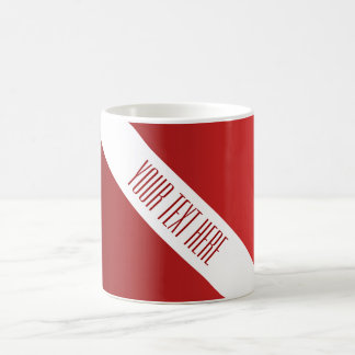ONLY COLOR gradients - fire red + your text Coffee Mug