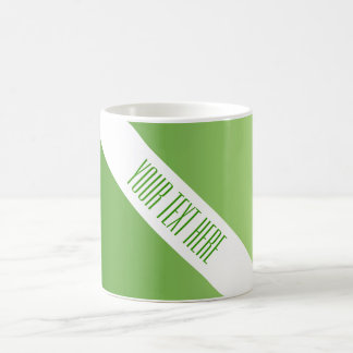 ONLY COLOR gradients green + your text Mug