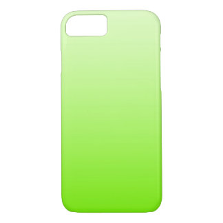 ONLY COLOR gradients - neon green iPhone 7 Case