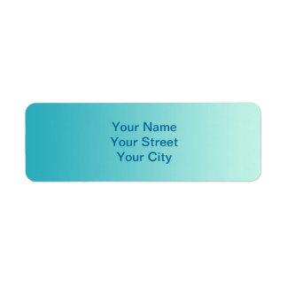 ONLY COLOR gradients - ocean blue Return Address Label