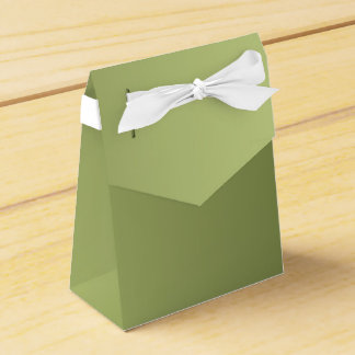 ONLY COLOR gradients - olive green Party Favor Boxes