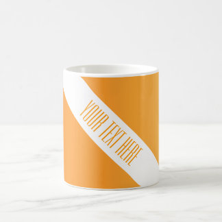 ONLY COLOR gradients orange + your text Coffee Mug