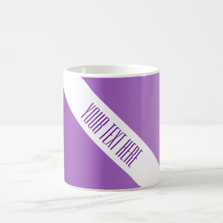 ONLY COLOR gradients purple + your text Mug
