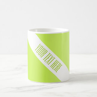 ONLY COLOR gradients spring green + your text Mug