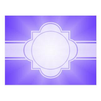 ONLY COLOR gradients - violet Star Postcard