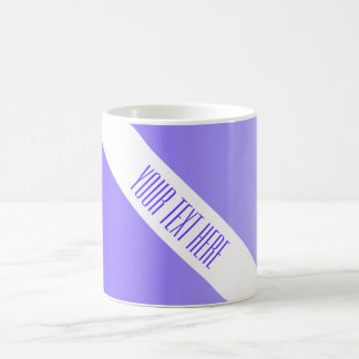 ONLY COLOR gradients violet + your text Mug