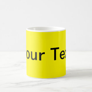 ONLY COLOR / lemon + your text Coffee Mugs