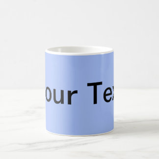 ONLY COLOR / light blue + your text Mugs