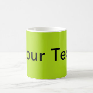 ONLY COLOR / light green + your text Mug