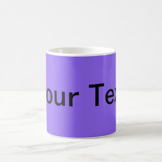 ONLY COLOR / lila + your text Coffee Mugs