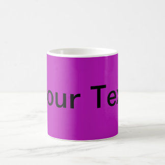 ONLY COLOR / magenta + your text Mugs
