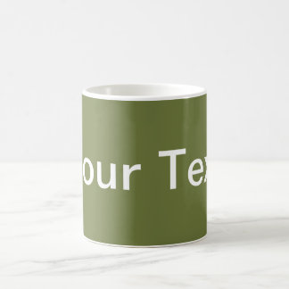 ONLY COLOR / olive green + your text Mug